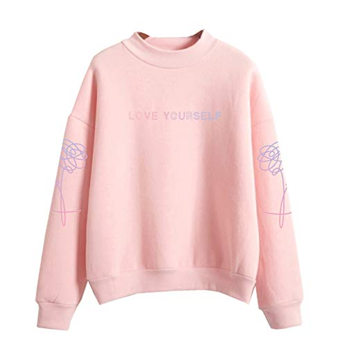 SERAPHY WOOKIT Unisex Kapuzenpullover Love Yourself Rollkragen Sweatshirts für Armee Suga Jimin Jin Jung Jook J-Hope Rap-Monster V Rosa-P M