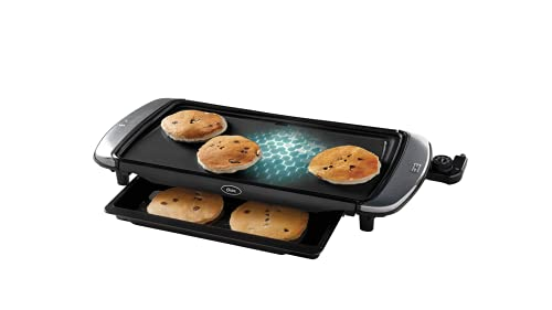 """Oster DiamondForce 10 x 20"""" Nonstick Coating Infused with Diamonds Electric Griddle with Warming Tray"""