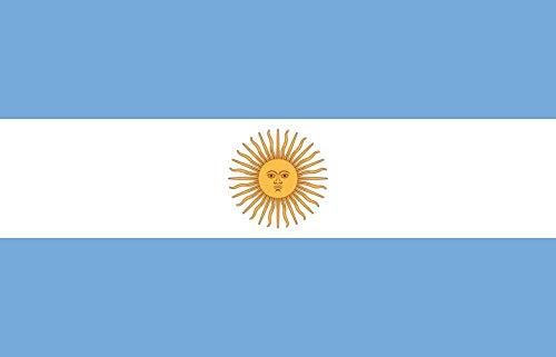 Etaia 5,4x8,4 cm Auto Aufkleber Fahne/Flagge von Argentinien Argentina Länder Sticker fürs Motorrad Bike Biker