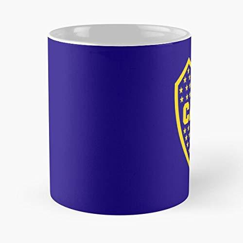 UNO JRS Bocajuniors Cabj Atletico Juniors M?s Clube Mitad Boca Die Beste 11 Unzen weiße Marmor Keramik Kaffeetasse