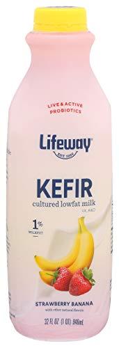 Lifeway Probiotic Low Fat Strawberry Banana Kefir, 32 Ounce -- 6 per case.