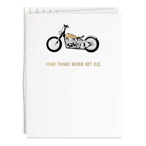 Hallmark Good Mail Motorcycle Birthday Card for Him (Some Things Never Get Old), 0499RZR1062