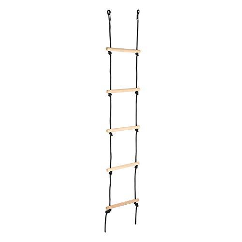 FOTABPYTI Juguete de Columpio para niños, Material de Madera Suave Escalera de Escalada de Madera confiable, Mano de Obra Fina Escalera de Cuerda para niños Equipo de Ejercicios para Uso en