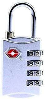 Suitcase Luggage Code Lock, 4-Dial TSA Approved Lock Combination Padlock Suitcase Bag Code Lock for Luggage Travel & GYM Lockers,silver