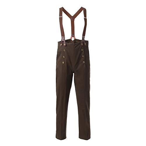 Pantalones para hombre de Graceart Steampunk, estilo victoriano, gtico, punk, vampiro, arquitecto, pantalones Verde Verde oliva (Pants+tirantes) XL