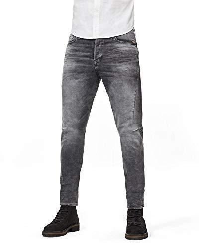 G-STAR RAW Scutar 3D Slim Tapered_Jeans, Vintage Basalt C293-b168, 34W / 32L para Hombre