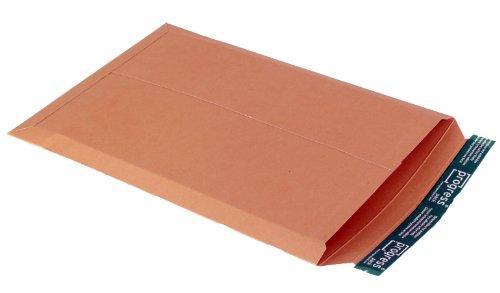 progressPACK Versandtasche PP V04.07 aus Vollpappe, DIN A3, 309 x 447 x bis 30 mm, 25-er Pack, braun