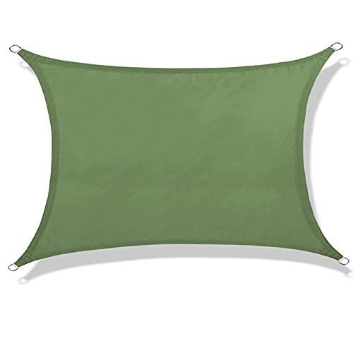Atroy Toldo para toldo de vela de 3 m, de tela con protección UV, para patio, patio, jardín, actividades al aire libre (con cuerda de 60 pies)