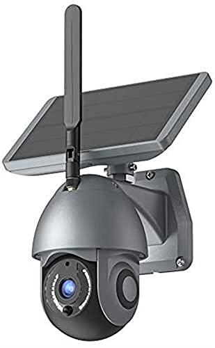 Cámara de seguridad solar para la cámara solar inalámbrica de WiFi inalámbrica HD de 1080p al aire libre con batería recargable Monitor de vigilancia a prueba de agua PIR Motion, control de audio de d