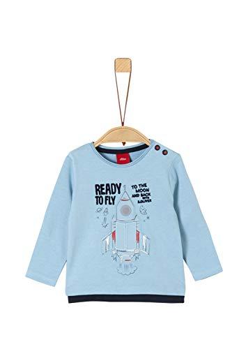 s.Oliver Baby-Jungen 65.911.31.7734 Langarmshirt, Blau (Blue 5312), (Herstellergröße: 74)