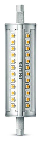 Philips Lighting 8718696713464 Philips Tube LED culot R7s, 14W équivalent 120W, blanc, intensité réglable, Plastique, 11,8 x 2,9 cm