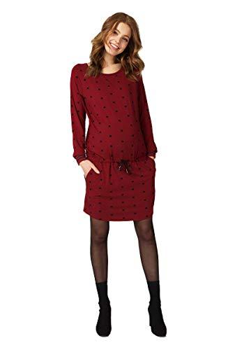 Queen Mum 91640 Robe de soirée élégante avec cordon de serrage - Rouge - 42