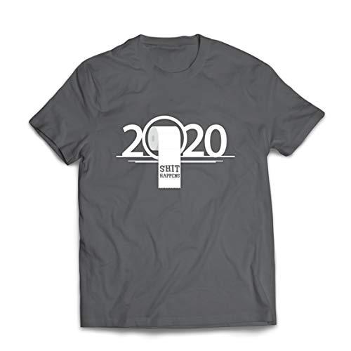lepni.me Männer T-Shirt Toilettenpapier Mangel Apokalypse 2020 Quarantäne Scheiße Passiert (XXX-Large Graphit Mehrfarben)