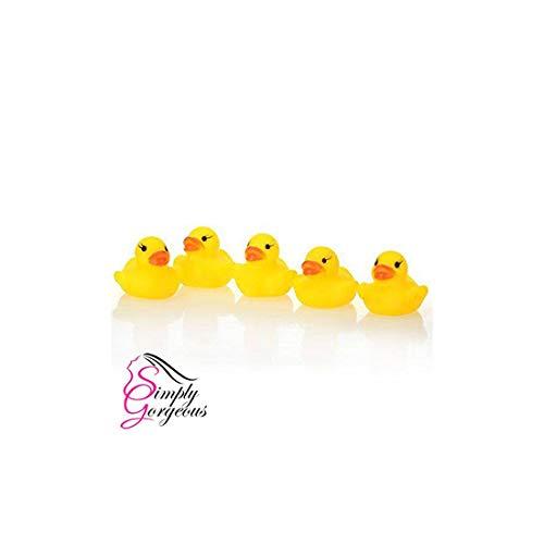 Mini-jaune heure du bain bain de canard en caoutchouc jouet jeu eau grincent fun enfants en bas âge - X 5