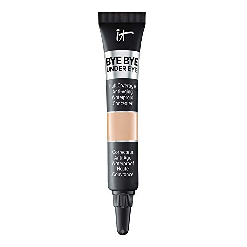 IT Cosmetics Bye Bye Under Eye, 20.0 Medium (N) - Travel Size - Full-Coverage, Anti-Aging, Waterproof Concealer - Improves the Appearance of Dark Circles, Wrinkles & Imperfections - 0.11 fl oz