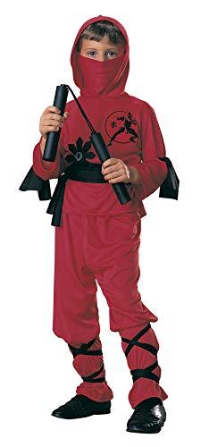 Rubie's - Disfraz de ninja para niños, color rojo, 5-7 años (12110-M)