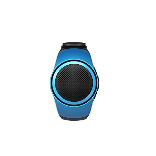 NinJaSun Bluetooth-Sportmusikuhr, Sportlautsprecher ansehen, Radio mit Anrufbeantworter-Karte Bluetooth-Lautsprecher, Frequenzbereich 100HZ-20KHz Bluetooth-Lautsprecher,Blue