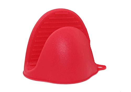 Los guantes de silicona para hornos instantáneos o en la cocina se usan como agarraderas o soportes para hornear. Los soportes para guantes se pueden usar al cocinar en una parrilla (rojo, 1pcs)