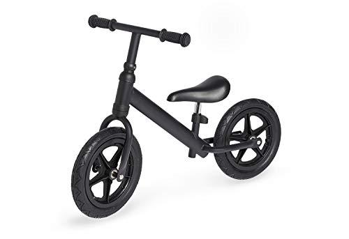 Pinolino Laufrad Lee, Metall, unplattbare Bereifung, Sattel stufenlos höhenverstellbar, für Kinder von 3 – 5 Jahren, schwarz matt