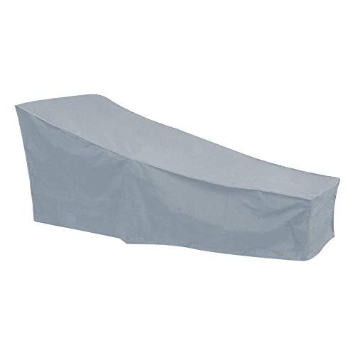 SEESEE.U Cubierta Antipolvo para Tumbona al Aire Libre, Fundas para tumbonas, Cubierta Antipolvo para Muebles de Exterior, Anti-UV a Prueba de Viento, 210 * 75 * 80 * 40 cm (Gris)