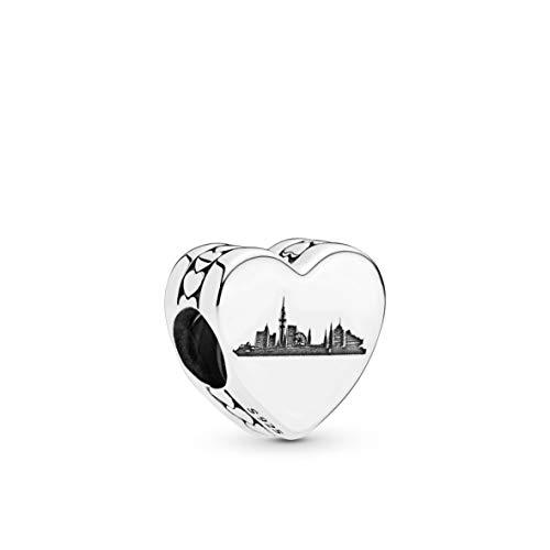 Ciondolo Amburgo skyline argento