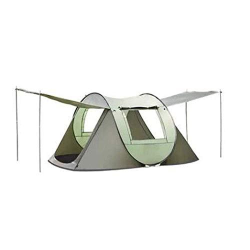 Tienda de camping, 3-4 personas al aire libre impermeable tiendas de apertura rápido de la familia Tiendas de mochila for la familia Sun Shelter UV Protección de sol-refugio for acampar Senderismo fen