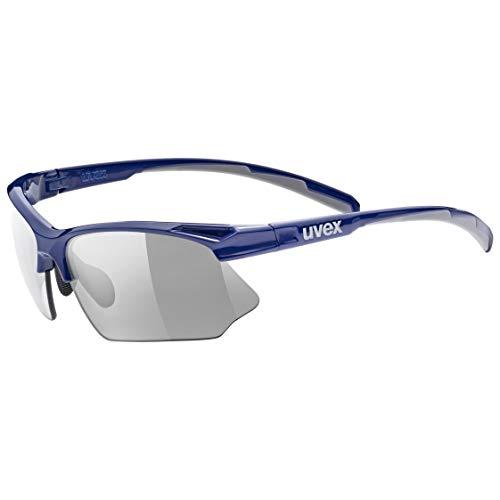 uvex Unisex– Erwachsene, sportstyle 802 v Sportbrille, blue grey, one size