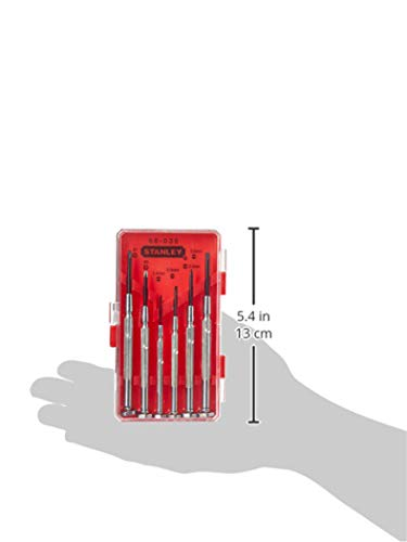 STANLEY Screwdriver Set, Jewellers Precision, 6-Piece (66-039)