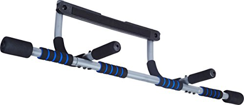 Pure Fitness Multi-Purpose Doorway Pull-Up Bar, Blue/Black