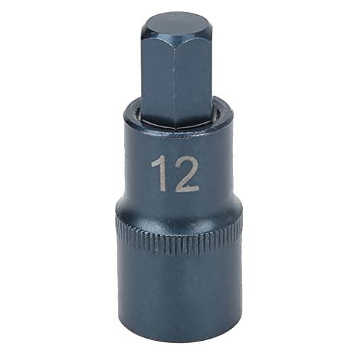 Punta de enchufe, S2 Acero aleado Blueing Llave rápida Punta de cubo, Adecuado para llaves de trinquete, Varillas dobladas, Varillas de extensión, Varillas deslizantes, 1 / 2X50XM12