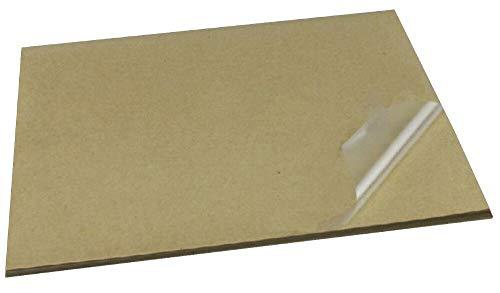 BLOUR 420 * 297 MM 20 Mikron Dicke A3 transparentes klares Aufkleberetikett mit Kraftpapier für Laser-Drucker oder Laminatfolie