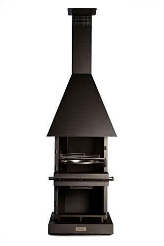 Firestar Edelstahl DN 700 Cube Classic schwarz Gartenkamin