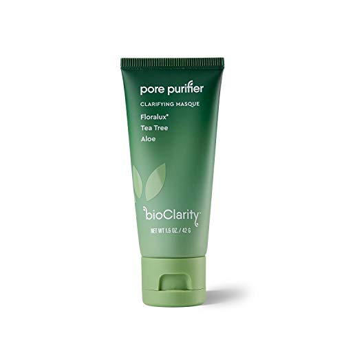 bioClarity Clarifying Face Masque | 100% Clean, Vegan Ingredients | Purify Pores, Smooth & Soothe Skin | Contains Floralux, Tea Tree, Aloe | 1.5 oz