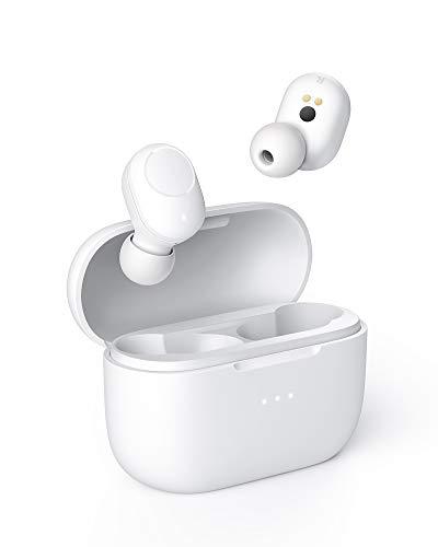 AUKEY Bluetooth Kopfhörer Kabelloser Ohrhörer mit Lade-Case für Kabelloses Laden, In-Ear-Erkennung, Ultra Low Latency, Wasserfestigkeit nach IPX5 für iPhones und Android