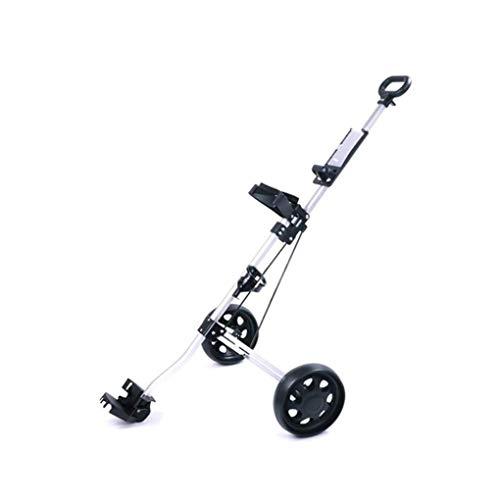 KUANDARGG Golfwagen, 2-Rad Golf Push Cart Schwenkbarer Golfwagen Mit Fußbremse Und Schnell Zusammenklappbaren,...