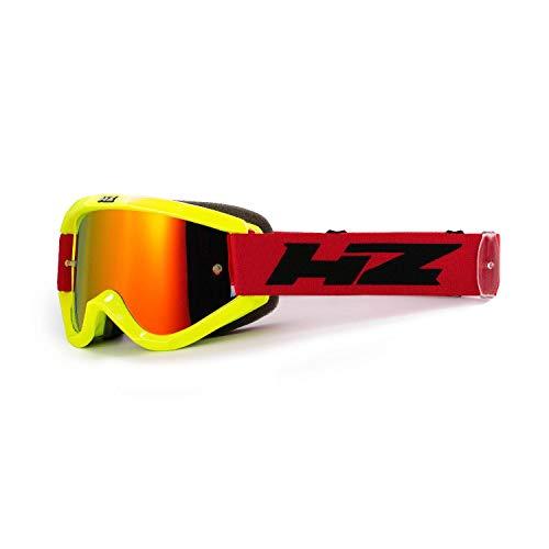 HZ Element 18 / Element SE-31WH89-HZ maschera motocross di colore giallo/rosso