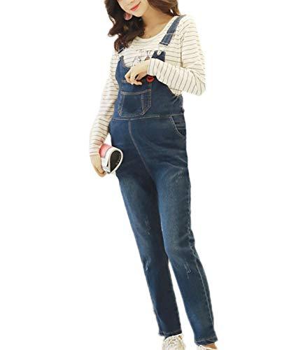 babao Mutterschaft Lätzchen Overalls Overalls Schwangere Frauen Denim Latzhose Jeans Overalls