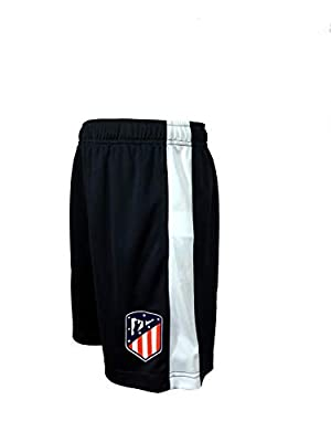 Official Atl?tico Madrid Junior Boys Athletic Sport Shorts (Navy, Large)