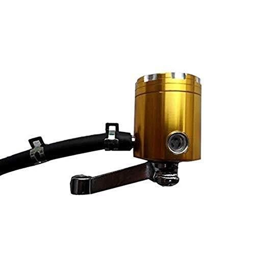 Brightz Motocicleta del Freno Delantero Embrague Tanque Cilindro Maestro Depósito de líquido de Aceite Modificado Espejo (Color : Yellow)