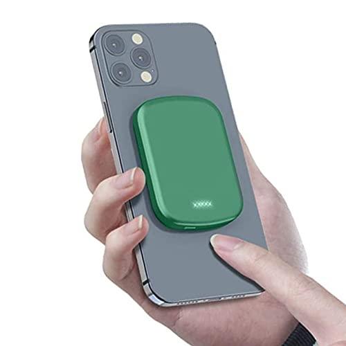 Banco de energía magnética de 15 W, 10000 mAh, 20 wpd, cargador rápido para teléfono móvil, utilizado para Magsafe Backup Power, compatible con iPhone 12/12mini/pro/max (10000mAh, verde)