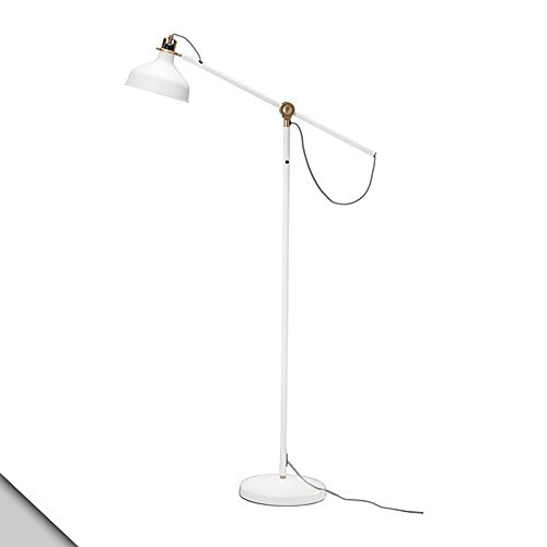 IKEA - RANARP Floor/reading lamp, off-white + E26 LED bulb