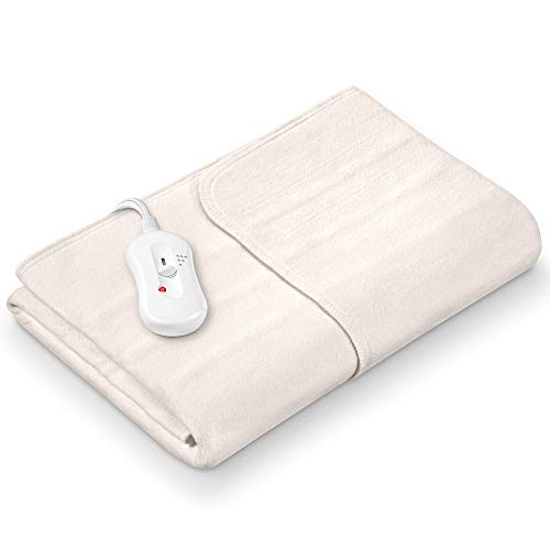 Sanitas SWB 20 Wärmeunterbett aus Vlies | mit Sicherheitssystem und 3 Temperaturstufen | einfache Fixierung auf Bett und Matratze | Waschbar bei 30⁰ | 150 x 80 cm