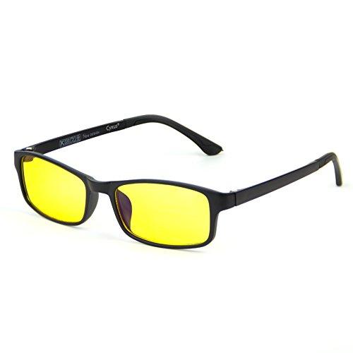 Cyxus Blaulichtfilter bril, UV-veiligheidsbril tegen hoofdpijn, vermoeidheid van de ogen, gaming bril voor PC TV Tablet Computerbril met transparante lenzen voor dames en heren