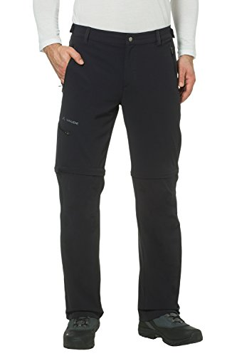 VAUDE Herren Hose Men's Farley Stretch T-Zip Pants II, black, 62-Short, 04575
