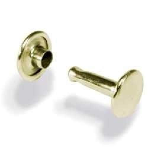 Tandy Leather Solid Brass Medium Double Cap Rivets 100 Pack 1381-11