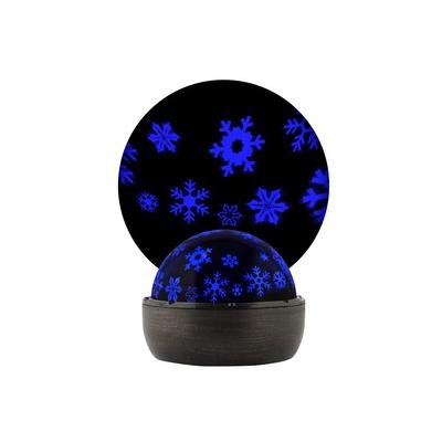 LED Projection Lightshow Multi-Function Blue Led Snowflakes Christmas Indoor Tabletop Battery Powered