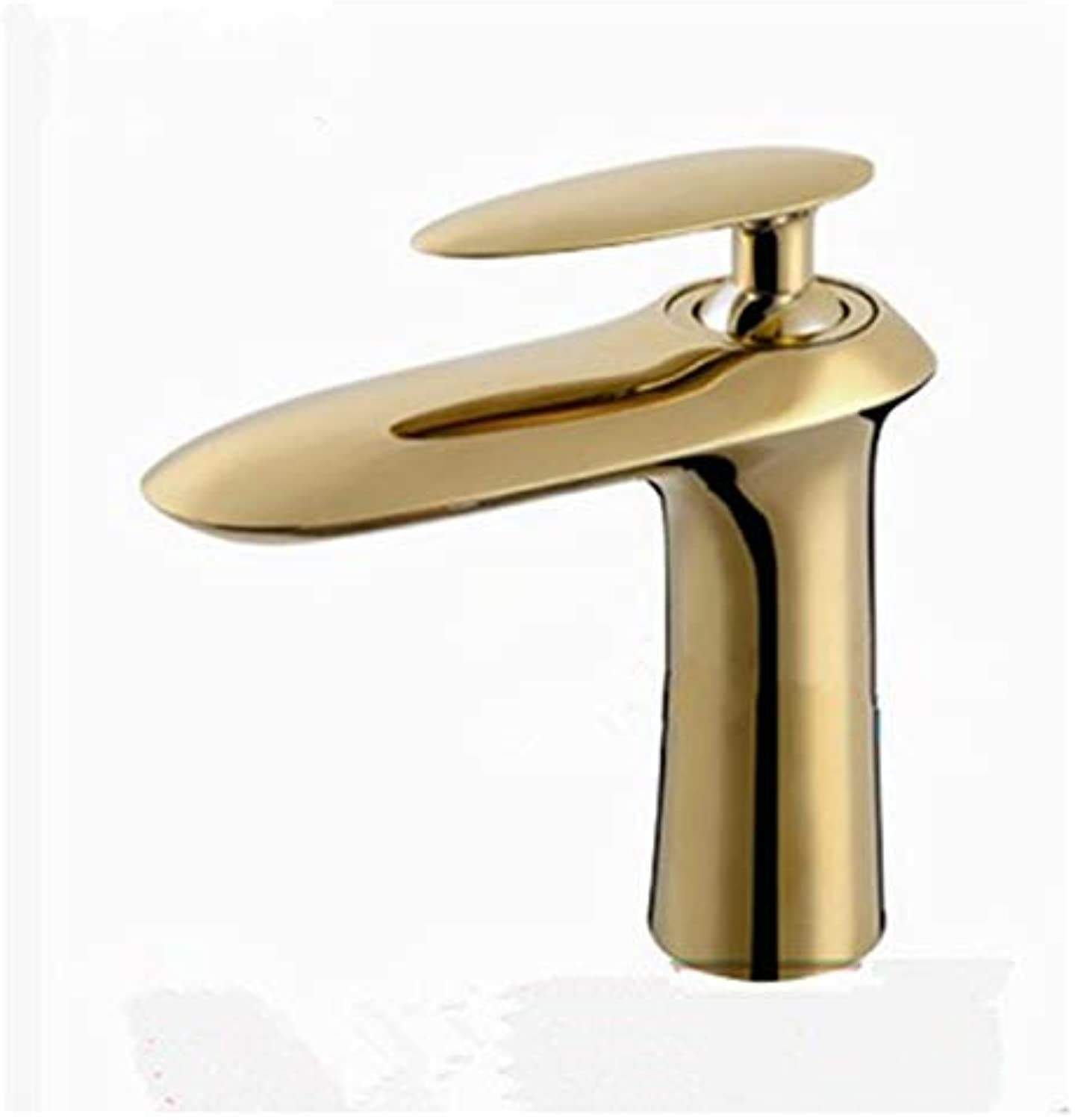 JONTON Taps Taps Taps Copper Basin Faucet Modern gold Basin Faucet Black Retro European gold-Plated Hot And Cold Water Bathroom Cabinet
