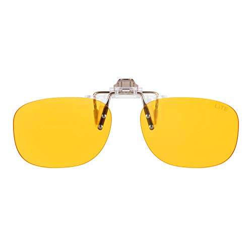 PRiSMA CLiP-ON LiTE95 bluelightprotect - Brillenaufstecker - augenschonende Bildschirmarbeit bei Tag und Nacht - CP704