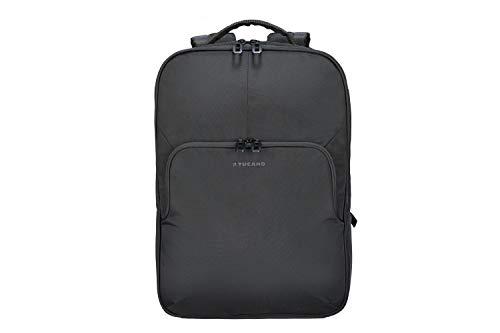 Tucano Salvo ECO comfortabele laptop notebook rugzak geschikt voor laptops tot 15,6 inch, zakelijke rugzak van gerecyclede PET-flessen, zwart