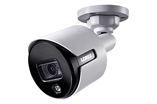 Lorex Analog 4K Weatherproof Indoor/Outdoor HD Wired Add-On Security Camera w/Long Range Night Vision, Motion Activated Lights, and Remote-Triggered Sirens (Camera Only-Requires Lorex Recorder)